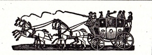 Advert header for the Regent coach 1822