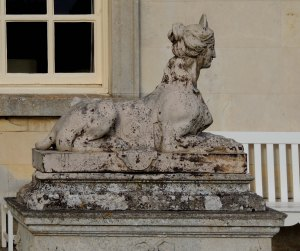 Coade stone sphinx at Milton Hall near Peterborough