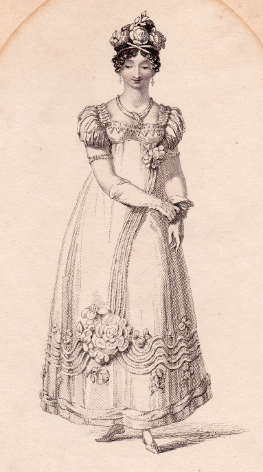 Bridal Dress Ackermann's Repository April 1818