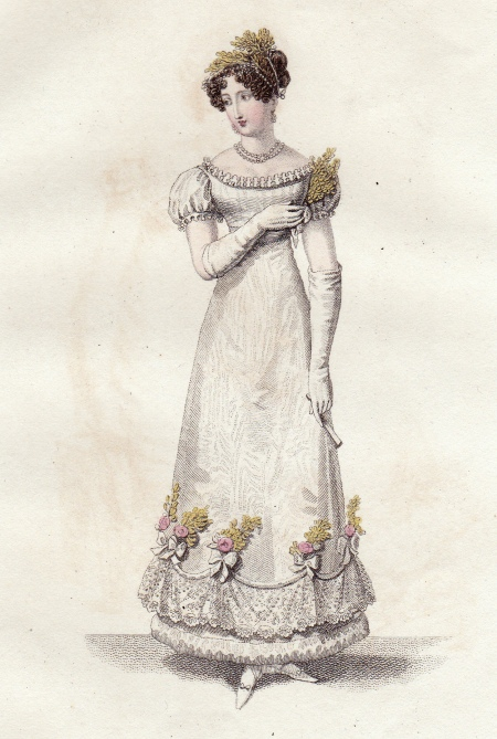 Parisian Evening Bridal Dress La Belle Assemblee October 1819