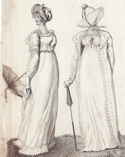 London Walking Dresses July 1807 for La Belle Assemblee