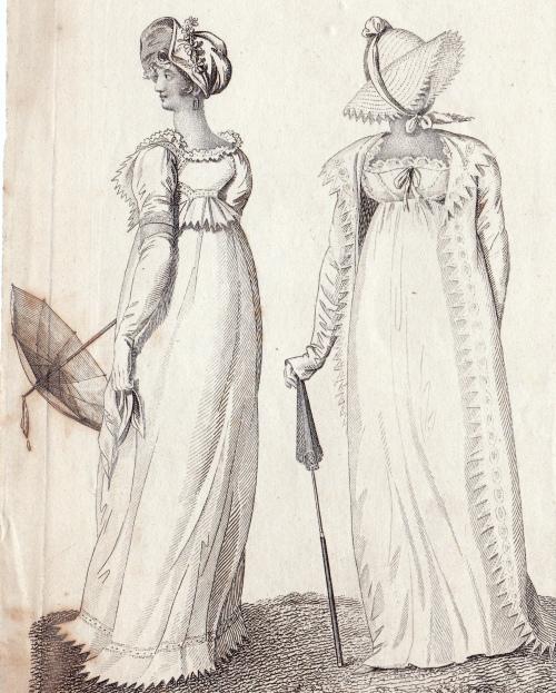 London Walking Dresses July 1807 for La Belle Assemblee