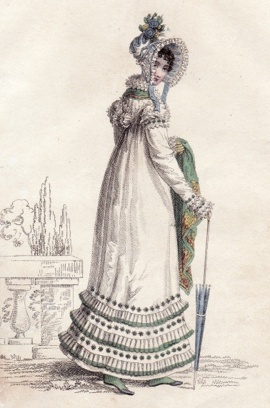 Walking Dress July 1818 La Belle Assemblee