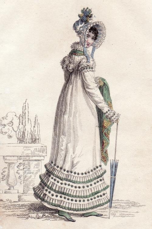 Walking Dress July 1818 La Belle Assemblee