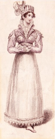 Angouleme Walking Dress. Invented & to be had only of Mrs Bell, 26 Charlotte Street, Bedford Square