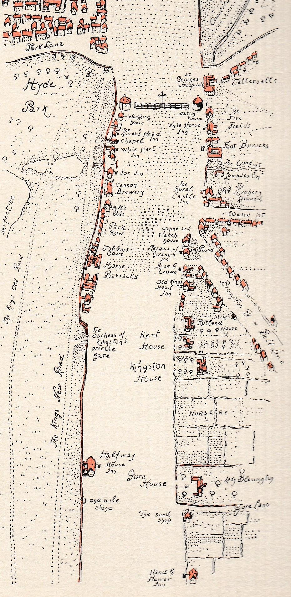 Knightsbridge London Map.Crossing The Knight S Bridge Jane Austen S London