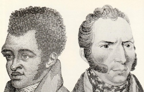 Bill Richmond (left) & Dutch Sam - two boxers whose physique drew artists to the Fives Court